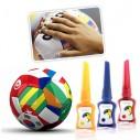 Esmalte de Alto Brillo en Colores Mundial de Futbol para decoración con bandaras en las uña