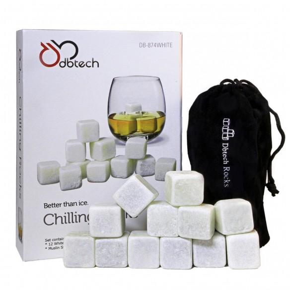 Set x12 Hielo de Roca Piedras térmicas para el Verdadero Whisky en las rocas