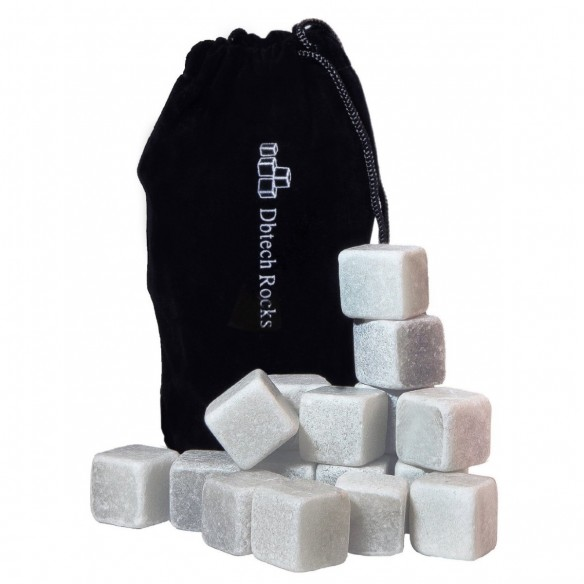 Set x18 Hielo de Roca Piedras térmicas para el Verdadero Whisky en las rocas