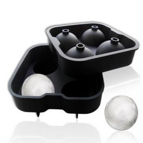 """Molde de silicona para hacer 4 esferas de hielo 2"""""""