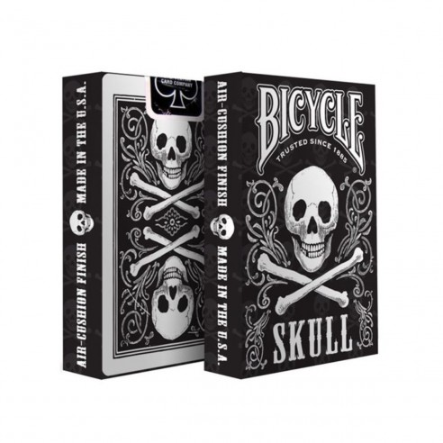 Juego de Cartas Bicycle Skull Playing Card diseño calavera Baraja Naipe Pocker importadas