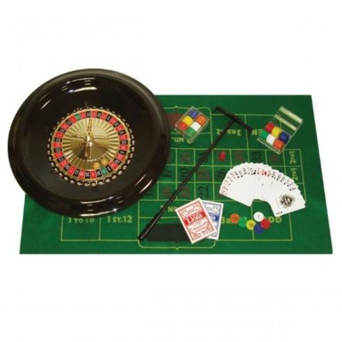 Kit de Casino Ruleta de 16 pulg. accesorios ruleta paño cartas fichas