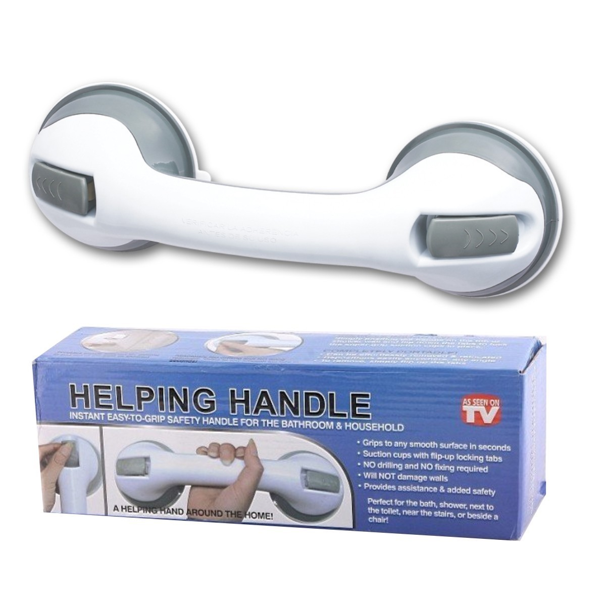 Agarradera manija de seguridad heping handle ideal para ba o for Manija para taza de bano