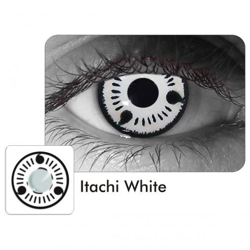 Lentes Locos Itachi White Crazy Lentes Halloween Disfraz Brujas