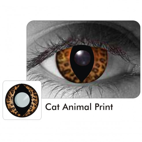 Lentes Locos Cat Animal Print Cat Crazy Lentes Halloween