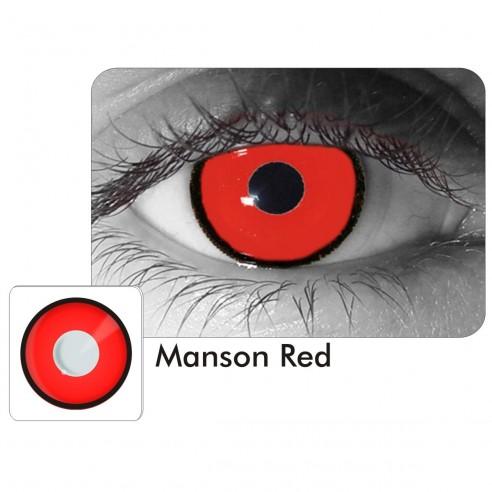 Lentes Locos de Manson Red Crazy Lentes Halloween
