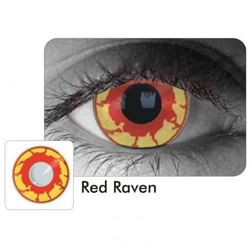 Lentes Halloween Crazy Red Raven Infierno