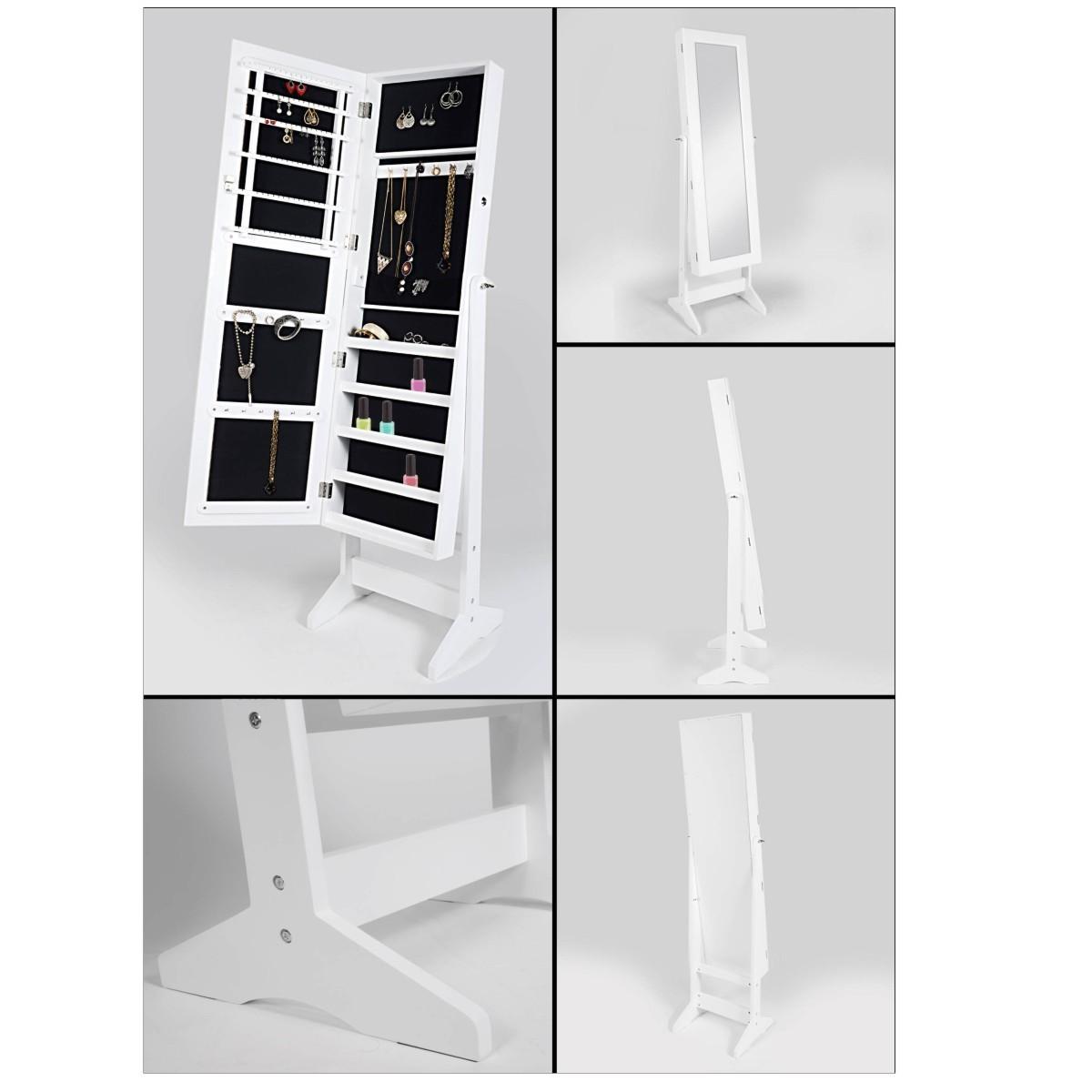 Mueble con espejo y joyero pedestal y organizador con cajonera - Mueble espejo joyero ...