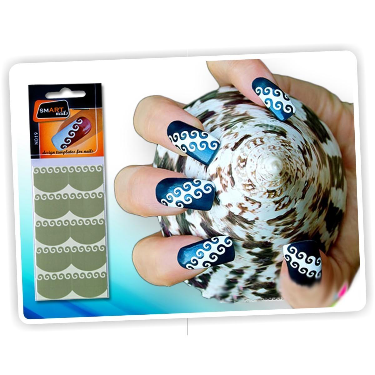 Kit de plantillas nail art reutilizables templates nail for Salon nail art