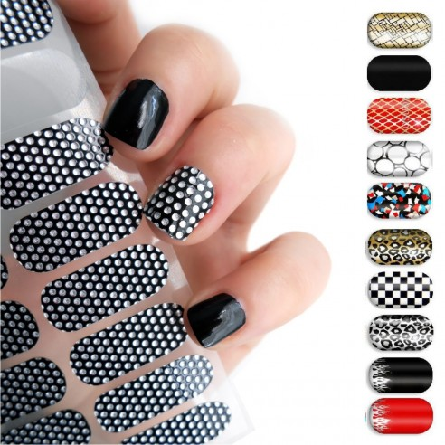 Kit Esmalte Autoadhesivo Patch Nails Stickers manicure rápida stickers strips
