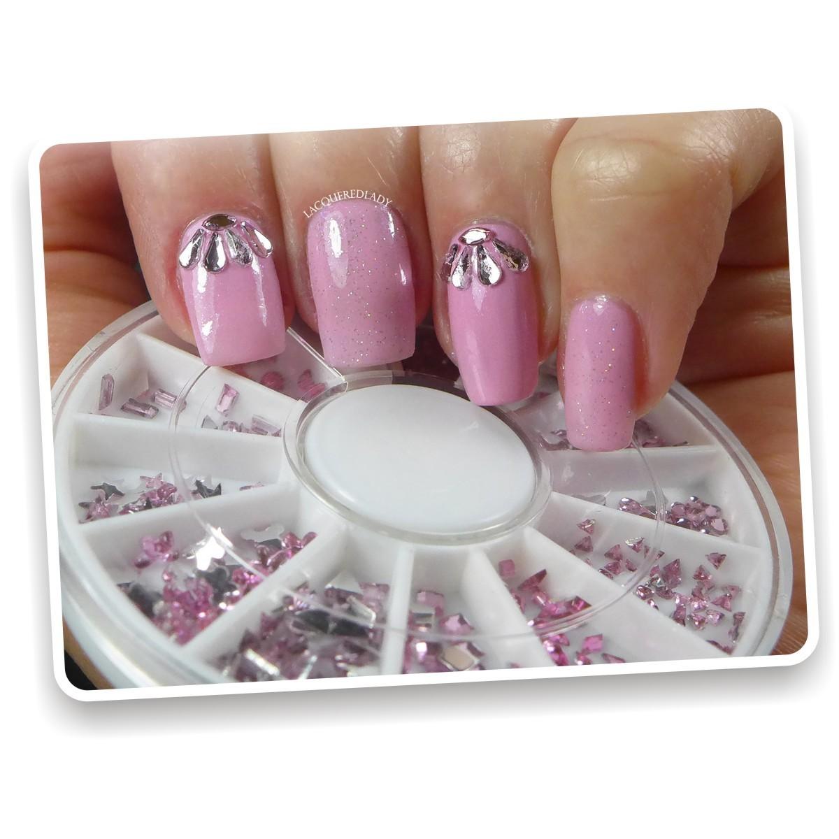 Kit Carrusel de decorativos gemas cristales y aplicativos para u as