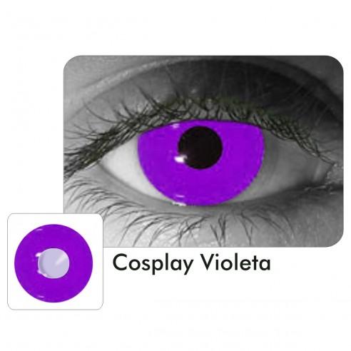 Lentes Locos Violeta Cosplay Crazy Lentes Halloween