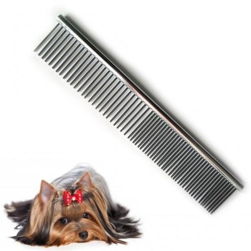 Peine Metálico para Mascotas de cerdas en acero inoxidable, pelo largo