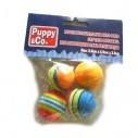 Juguete x4 Bolas suaves de colores para Mascota