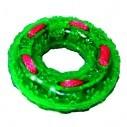 Juguete Aro Verde con Cordón TPR Rasca encías para Mascota Verde