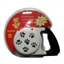 Correa Retráctil Estampada para mascotas 4.5mts Perros Max 18kg