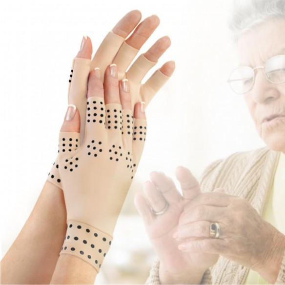 Guantes magnéticos de compresión masaje para la artritis