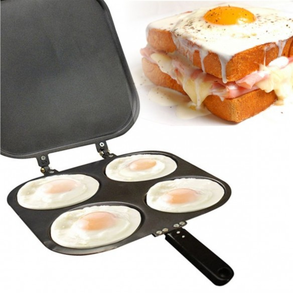 Perfect Pancake sartén de 4 porciones, crepes, huevos, antiadherent