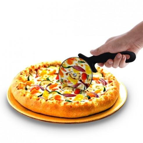 Cortador Circular de Pizza en acero Inoxidable, corta y porciona fácil