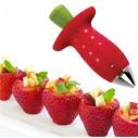 Removedor de tallo de Fresas y tomates, Strawberry Stem Huller despitonador de frutas y verduras
