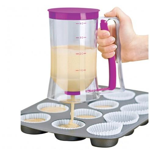 Dosificador de pancakes embudo dispensador de cocina y pastelería