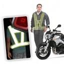 Espectacular Chaleco Reflectivo de seguridad para Motociclistas Ajustable con Velcro, importado