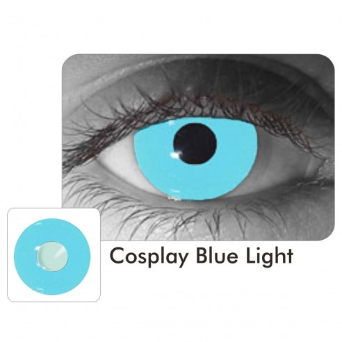 Lentes Locos Cosplay Light Blue Crazy Lentes Halloween