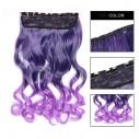 Cortina de Cabello Ondulada Degradee violeta a Lila