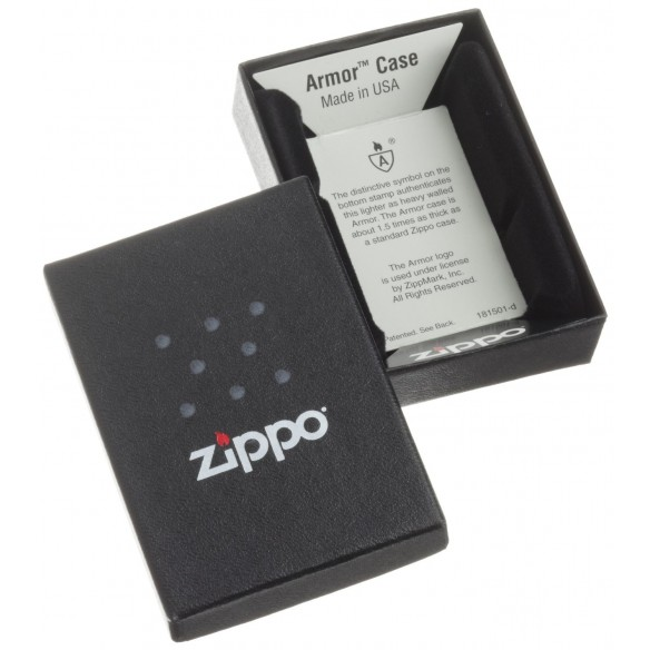 Encendedor Zippo Colors Black Crakle - Negro