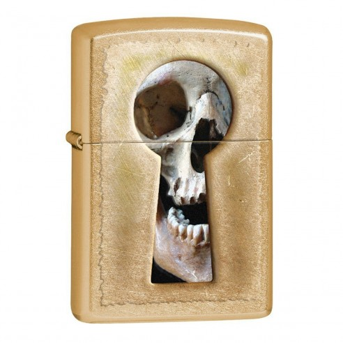Encendedores Zippo Stamp Keyhole Skull