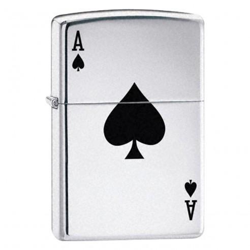 Encendedores Zippo Stamp Lucky Ace - Plateado