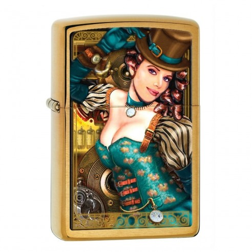 Encendedor Zippo Lady Brass Industrial Machinery