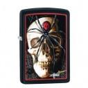 Encendedores Zippo Stamp Skull Spider - Negro.