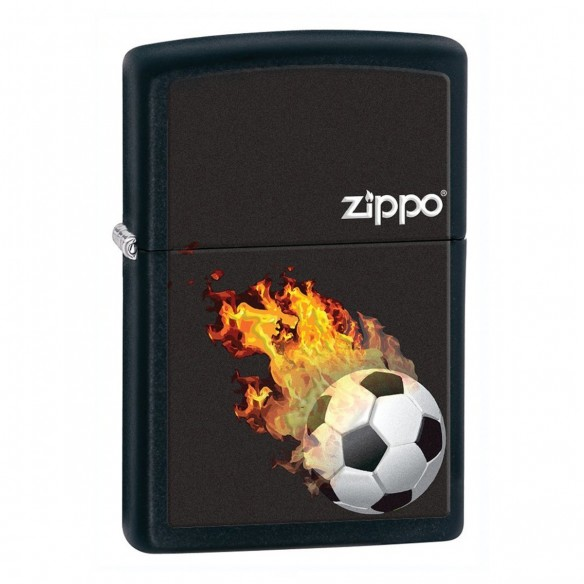 Encendedores Zippo Stamp Soccer Ball Flames
