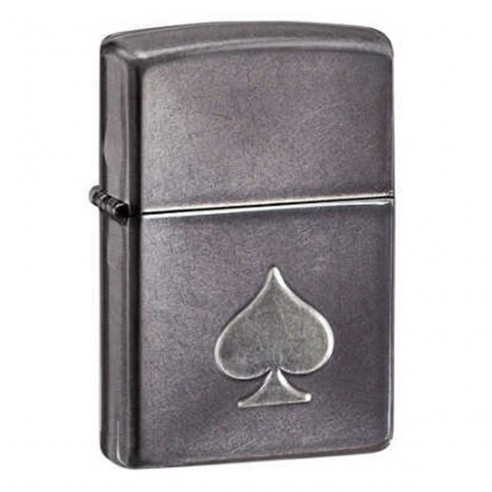 Encendedor Zippo Texture Stamped Spade - Gris.