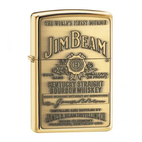 Encendedor Zippo Jim Beam Brass - Dorado