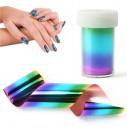 Cintas Transfer Nail Foil Art decorar tus uñas espejo