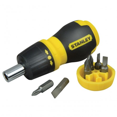 Stanley Destornillador con Rack 66-358 Stuby Ratcheting multi 6 puntas