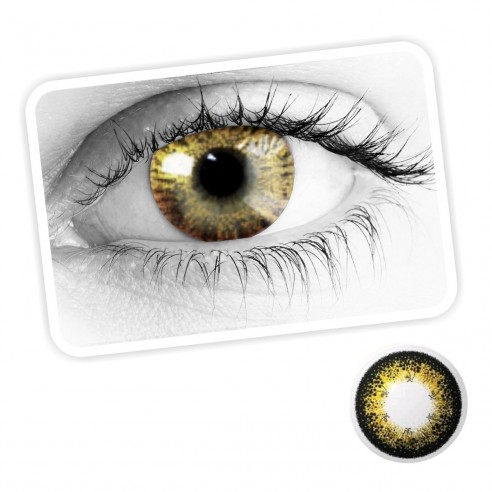 86fc1cd362 Lentes de contacto Gold ojos Dorados, brillos y destellos luminosos