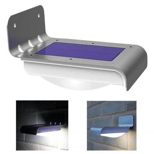 Luz led solar con sensor de movimiento para exteriores - Sensores de movimiento para iluminacion ...