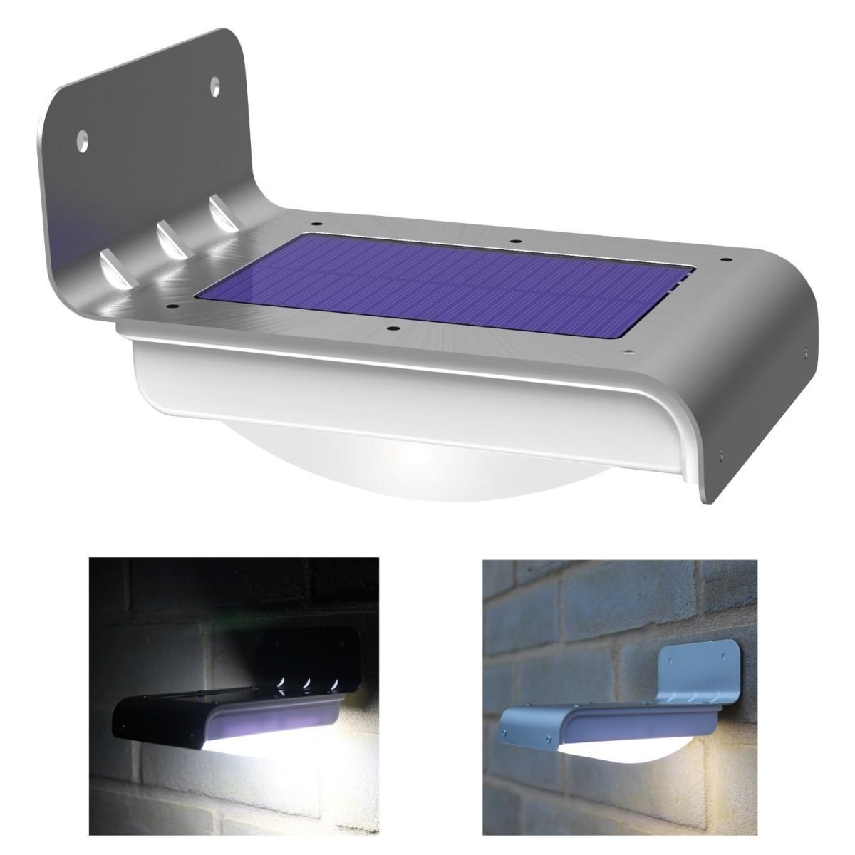 Luz led solar con sensor de movimiento para exteriores for Iluminacion de exterior solar