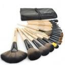 Set de 24 brochas y pinceles para maquillaje profesional