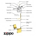 Encendedores Zippo Classic Brush Brass