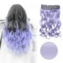 EExtension Ondulada Unicolor Cosplay tipo Cortina de cabello Eventos
