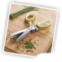 Tijeras para verduras, hierbas y vegetales pica cilantro, perejil, cuatro en una