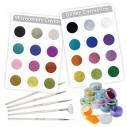 Kit de 24 decorativos y 5 pinceles para Uñas y pinceles