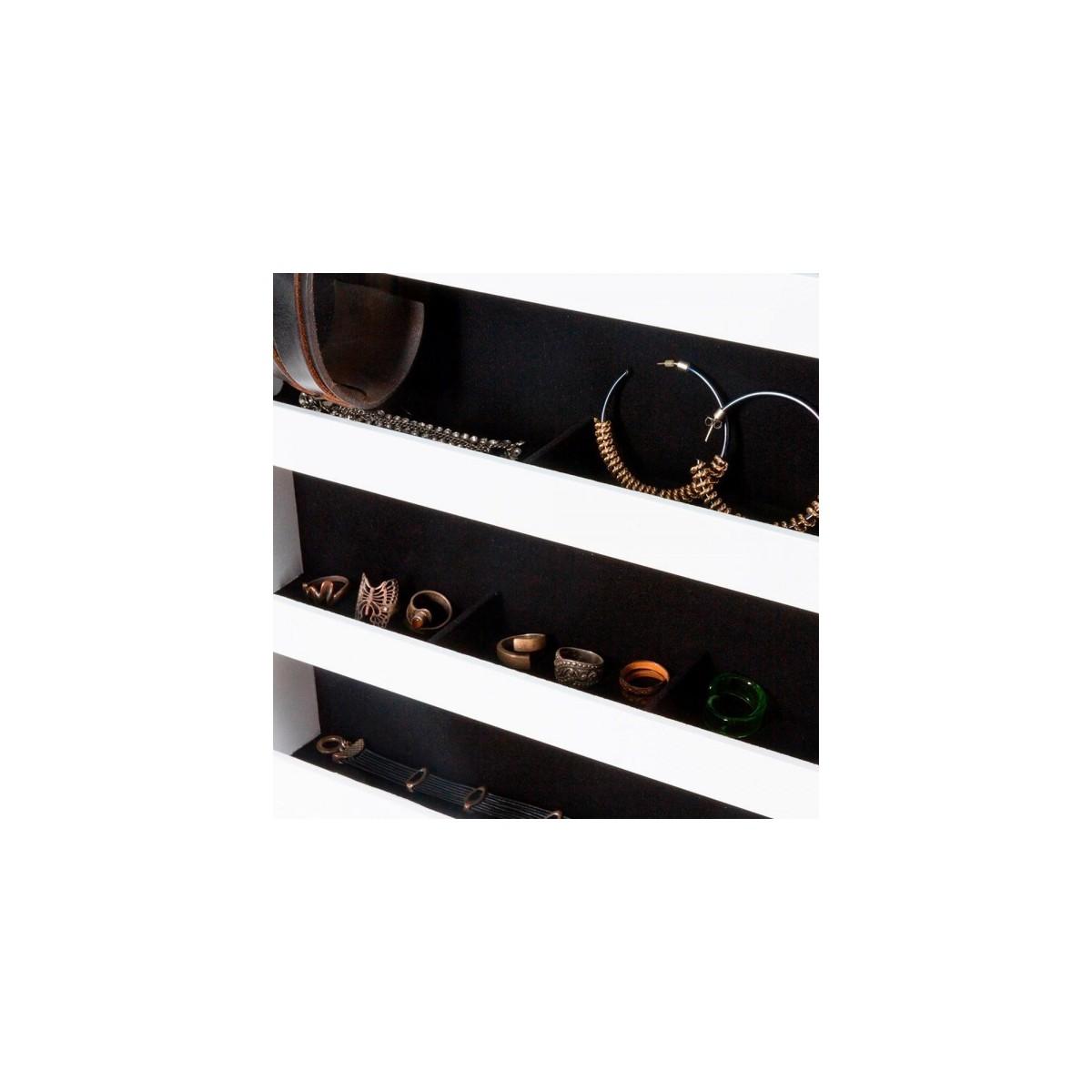 Mueble Giratorio Con Organizador Y Espejo : Mueble con espejo y joyero pedestal organizador cajonera