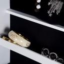 Mueble Cajonera con Espejo Joyero con Pedestal y Organizador Cajones