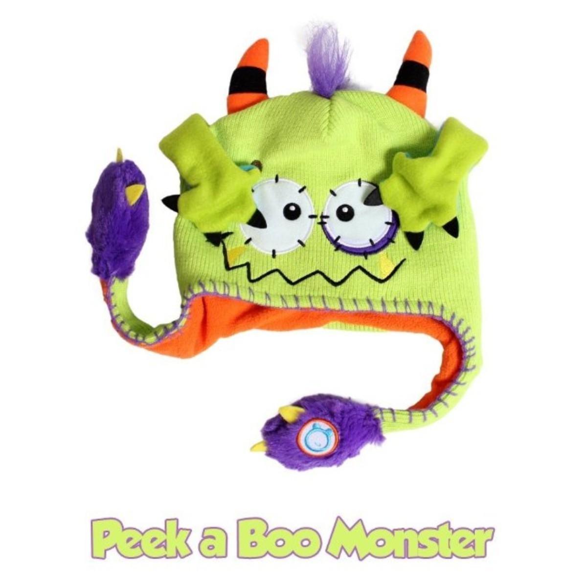 Sombrero Divertido Gorro Hat Flipeez Peek-a-Boo Monster con movimiento 73cba59a3fb