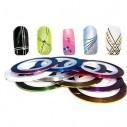 Cintas Nail Art Tirillas adhesivas para decorar tus uñas manicure